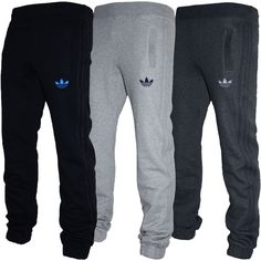 Mens Adidas Originals SPO Fleece Trefoil Tracksuit Pants Bottoms Grey/Black S-XL in Activewear | eBay