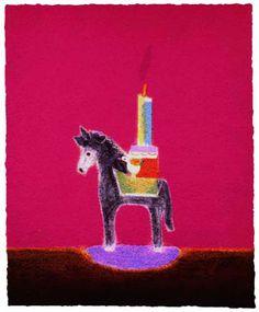 From Advanced Graphics London, Craigie Aitchison, Donkey Candlestick Silkscreen, × cm Running Art, Royal Academy Of Arts, Art Fair, Candlesticks, Screen Printing, Book Art, Contemporary Art, Illustration Art, Illustrations