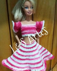 Barbie Patterns, Crochet Toys Patterns, Doll Clothes Patterns, Stuffed Toys Patterns, Clothing Patterns, Barbie Dress, Barbie Doll, Fashion Dolls, Fashion Outfits
