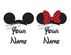 Mickey Mouse & Minnie Mouse Custom Personalized Family Shirts DIY Printable Iron On Transfer