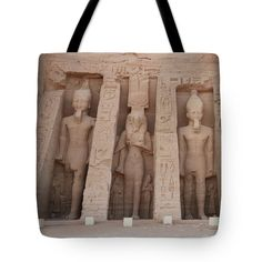 Tote Bag featuring the photograph Temple Of Nefertari by Silvia Bruno