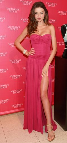 Beautiful Pink. Love the dress, don't know about the split though for prom