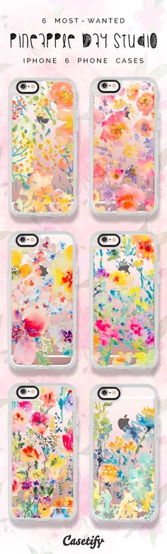 All time favourite floral iPhone 6 protective phone case designs by Pineapple Bay Studio   Click through to see more iphone phone case ideas >>> https://www.casetify.com/pineapplebaystudio/collection   @casetify