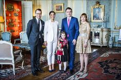 Queens & Princesses -  Princess Victoria and Prince Daniel met with the Estonian Prime Minister at the Royal Palace in Stockholm.