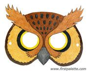 Ideas for painting pumpkins Printable Animal Masks Craft Owl Mask, Bear Mask, Bird Masks, Animal Mask Templates, Printable Animal Masks, Animal Masks For Kids, Mask For Kids, Masks Kids, Bear Crafts