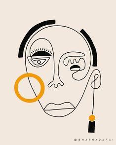 Kellan ~ 🖤 From Children of a Bleeding Sun Collection 🕊 available at . Ink Illustrations, Illustration Art, Art Sketches, Art Drawings, Face Line Drawing, Cubist Art, Weird Art, Hanging Wall Art, Face Art