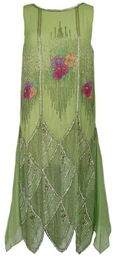 Beautiful 1920's Beaded Flapper Dress...