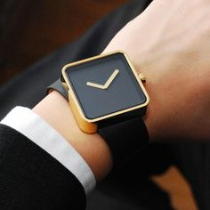 Slip Watch Gold/Black by Nonlinear Studio (face rotated 20 degrees, the right angle for you to glance at the time)
