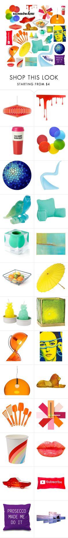 """Rainbow!"" by metropulse on Polyvore featuring interior, interiors, interior design, home, home decor, interior decorating, Pulpo, Kate Spade, Tina Frey Designs and Vitra"