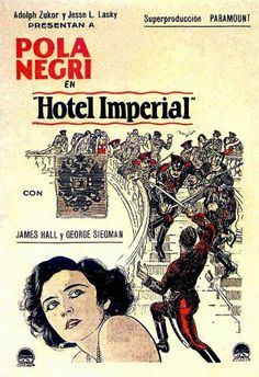 Spanish theatrical poster for the 1927 silent film Hotel Imperial.