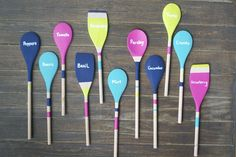 DIY Wooden Spoon Garden Markers - spice up your herb and vegetable garden with these easy DIY wooden spoon garden markers!