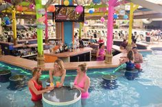 Swim-up bars, mermaids, and slides galore!