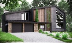 Building A House Discover Modern House Plan Building Plans Blueprints & Material List 2018 306 m Building A House, Building Plans, Building Ideas, Small Modern Home, Small Contemporary House Plans, Best Modern House Design, Modern Style Homes, Midcentury Modern House Plans, Modern Modular Homes