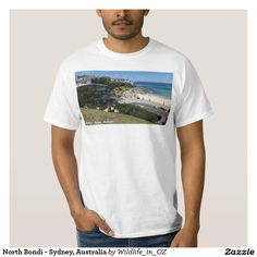 Shop Bondi Beach - Sydney, Australia T-Shirt created by Wildlife_in_OZ. Personalize it with photos & text or purchase as is! Bondi Beach Sydney, Sydney Australia, Rib Knit, Surf, Sunrise, Fitness Models, Mens Fashion, Mens Tops, Cotton