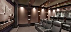 This Model LS surround sound system has razor-sharp dynamics and unparalleled realism, with speakers placed behind acoustically transparent wall coverings. Read more at: http://steinwaylyngdorf.com/showcases/surround-sound/dedicated-home-theater