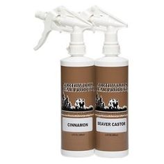 Northwoods Bear Products Spray Scent Twin Pack Bear Attractant - 2 pack/16 oz - Beaver Castor/Cinnamon