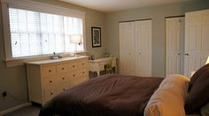 Master bedroom suite, plenty of closets