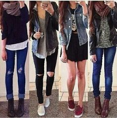 Look _ estilo _ dia a dia _ jeans _ inverno _ bota _ tênis