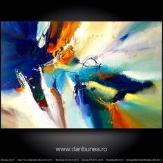 Very large abstract painting by Dan Bunea: For por danbunea en Etsy