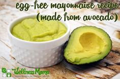 This egg-free mayo recipe uses fresh avocado and healthy olive oil with herbs and spices for a flavorful and healthy mayo substitute without vegetable oils.
