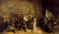 Gustave Courbet, The Artist's Studio; A real allegory summing up seven years of my artistic and moral life, oil on canvas, 1854-55