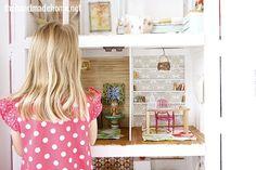 how to make a dollhouse living room + study {barbie scale} - the handmade home