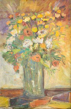 STELIO TEIXEIRA - (1937)    Título: Flores  Técnica: óleo sobre madeira  Medidas: 57 x 37 cm  Assinatura: canto inferior direito