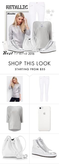 """nr 533 / Best Trend of 2016"" by kornitka ❤ liked on Polyvore featuring Glamorous, J Brand, Phase Eight, Lancaster, Puma, metallic and besttrend2016"