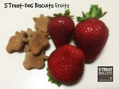 All natural homemade fruit biscuits for dogs. Visit us: https://www.facebook.com/Baking4aCauseStreats