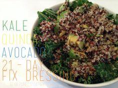 Kale, Quinoa & Avocado salad  21-Day Fix recipe