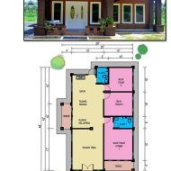 Pelan rumah modern 3 bilik My House Plans, Floor Plans, How To Plan, Modern, Trendy Tree, Floor Plan Drawing, House Floor Plans