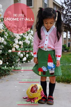 I love this handmade skirt with the adorable applique!