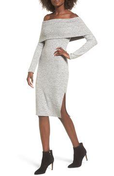 d0bee56bdb1 Off the Shoulder Sweater Dress