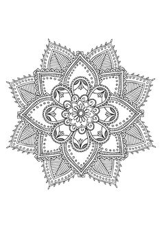 Mandala à colorier More