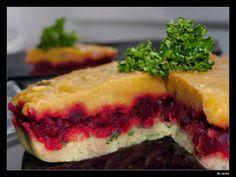 Polentový koláč s červenou řepou