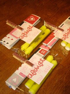 Non Candy Valentine Ideas for Kids - I love these, but I'm pretty sure I would get voted down.