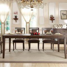Found it at Wayfair - Riverside Furniture Promenade 9 Piece Dining Set Wood Chair Design, Dining Table Design, Dining Table In Kitchen, Dining Room Sets, Furniture Design, Dining Tables, Furniture Ideas, Outdoor Dining Furniture, Living Furniture