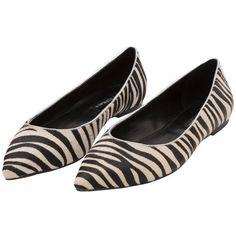 Sapatilha zebra preta