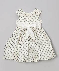 Another great find on #zulily! Ivory Polka Dot Sleeveless Dress - Toddler & Girls by Growing Up #zulilyfinds