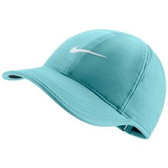 Women's Nike Featherlight Dri-FIT Hat, Copa ($18) ❤ liked on Polyvore featuring accessories, hats, copa, ball cap hats, embroidery hats, pattern hats, dri fit baseball caps and nike hat