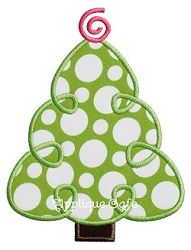 Loopy Christmas Tree Applique - 3 Sizes! | Christmas | Machine Embroidery Designs | SWAKembroidery.com Applique Cafe