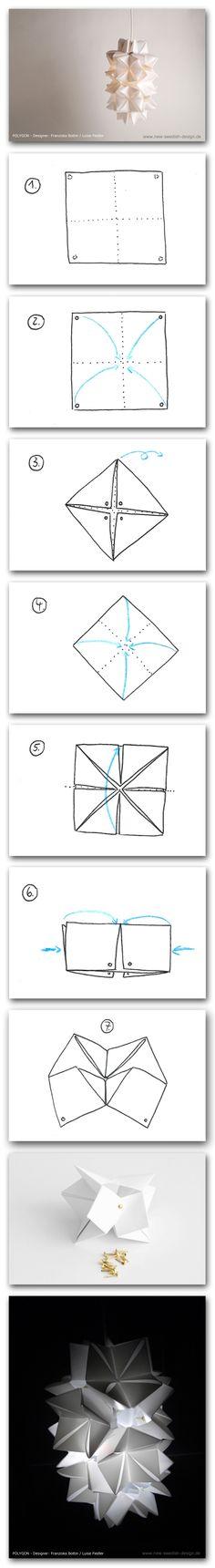 aus // DIY made of (Designer: Franziska Bottin / Luise Fiedler) Swedish Design, Ikea Hack, Origami, Lighting, Diy, Concept, Build Your Own, Bricolage, Origami Paper