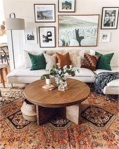 Salon Boho Living Room, Cheap Home Decor, Farm House Living Room, Bohemian Living Room Decor, Living Room Designs, Living Decor, Home Decor, House Interior, Living Room Furniture