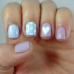 Barry M Pastel Hearts Nail Art