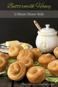 TheseButtermilk Honey 5 Minute Dinner Rolls are the complete package: delicious, tender, sweet and super easy - all rolled into one! The smell? Heavenly!