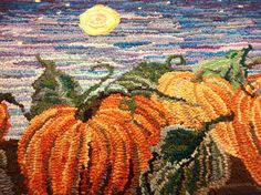It's pumpkin time! Designed and hooked by Jennifer Martinsons