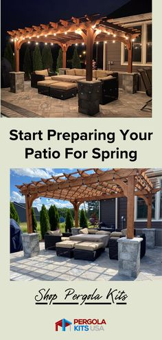 It is almost Spring and time to get that patio looking sharp! These Patio Covers from Pergola Kits USA are the way to go, customizable to any space with easy set up and yor ready to enjoy your backyard again! #pergolas #patiomakeover #patiocovers Cedar Pergola Kits, Wood Pergola, Diy Pergola, Red Cedar Lumber, Outdoor Dining, Outdoor Decor, Patio Makeover, Backyard Retreat, Western Red Cedar