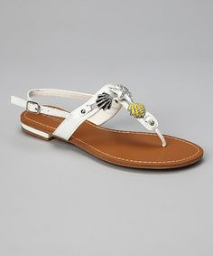Take a look at this White Vashti Sandal by Bamboo on #zulily today!  $16.99, regular 34.00