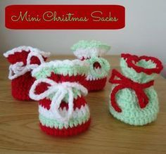 Dinki Dots Craft: Crochet Christmas Sacks