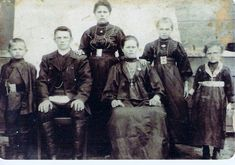 volga+german+villages | Volga Germans ... Easter Sunday April 1912, Rolheiser Family, in ...